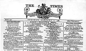 The Times - first issue, 1788