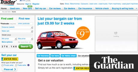 Trader Media Group buoyed by digital growth | Media | The Guardian