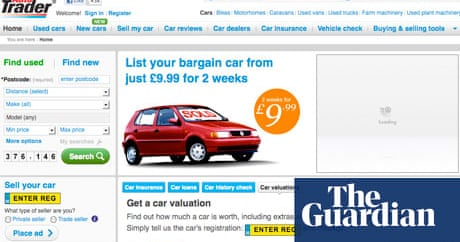 Trader Media Group buoyed by digital growth   Media   The Guardian