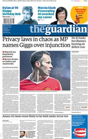 frontpagesgiggs: The Guardian Ryan Giggs