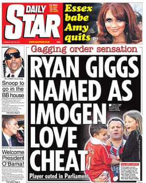 frontpagesgiggs: The Star Ryan Giggs