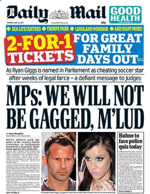 frontpagesgiggs: The Mail Ryan Giggs