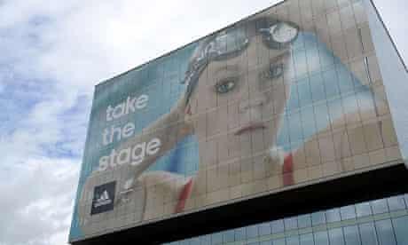 Adidas Paralympic Billboard at Stratford