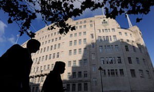 Members of the public pass Broadcasting House