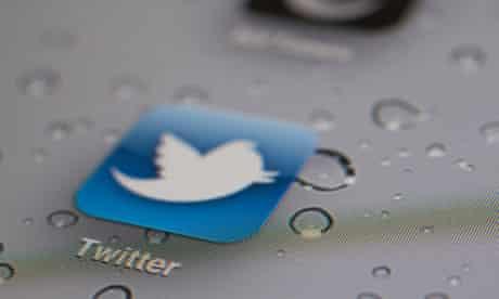 Twitter logo on ipad