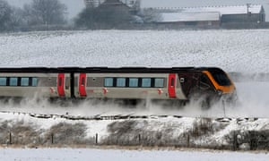 A cross country train between Leeds and York