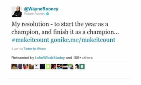 Wayne Rooney and Jack Wilshere tweets banned