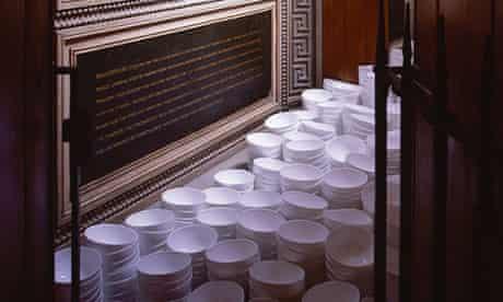 Clare Twomey's installation, Everyman's Dream Sir John Soane's Museum