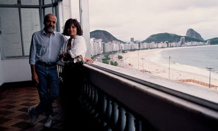 Paulo Coelho and his wife Christina Oiticica