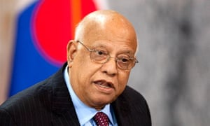 Finance minister Abul Maal Abdul Muhith
