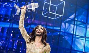 Conchita Wurst representing Austria Eurovision