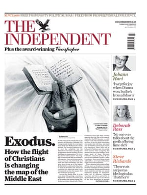 The Independent redesign: The Independent front page