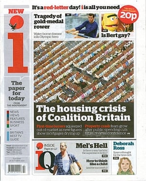 The Independent redesign: The Independent's i front page