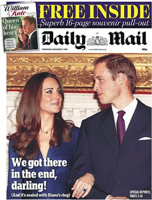 Royal front pages: Daily Mail