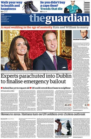Royal front pages: Guardian