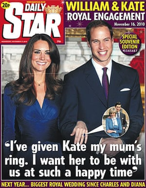 Royal front pages: Daily Star