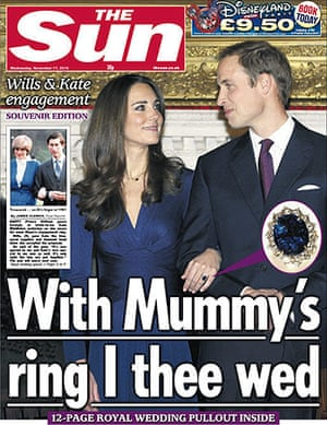 Royal front pages: Sun