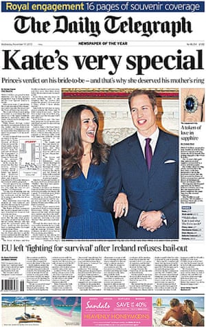 Royal front pages: Daily Telegraph