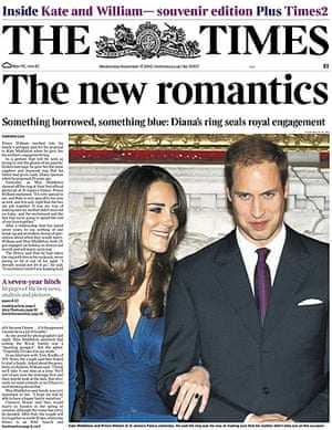 Royal front pages: Times