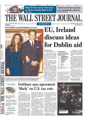 Kate and William press: The Wall Street Journal Europe