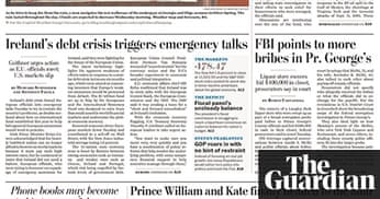 Prince William And Kate Middleton 39 S Engagement The Front Pages Media The Guardian