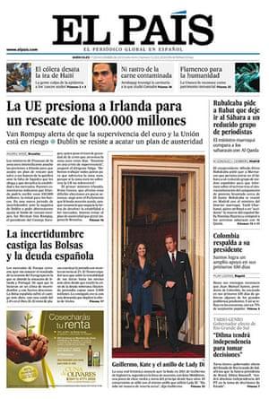 Kate and William press: El Pais