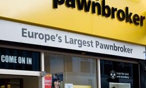 The Money Shop pawnbroker in Chatham High Street, Kent .