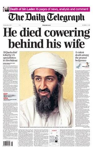 Osama bin Laden dead: Daily Telegraph