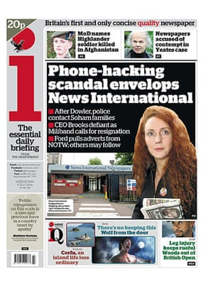 Phone hacking front pages: The i