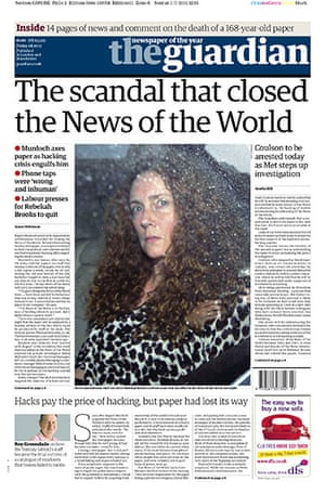 NOTW closure front pages: The Guardian