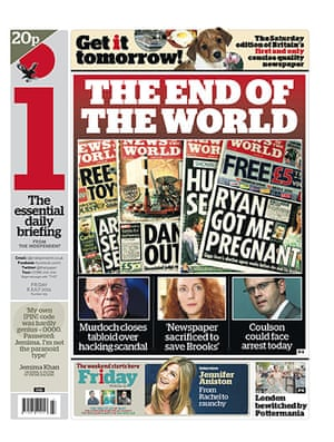 NOTW closure front pages: The i