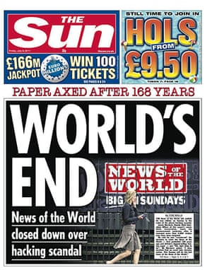 NOTW closure front pages: The Sun