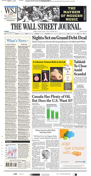 NOTW closure front pages: The Wall Street Journal