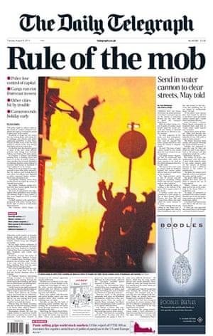 UK riots: Daily Telegraph