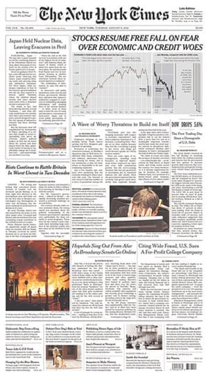 UK riots: New York Times