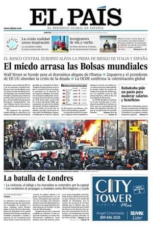 UK riots: El País, Spain