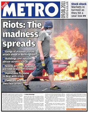 UK riots: Metro