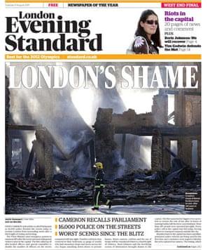 UK riots: London Evening Standard
