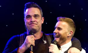 Gary Barlow and Robbie Williams MIT awards 2012