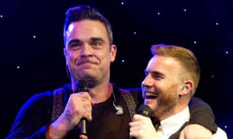 Gary Barlow and Robbie Williams MIT awards 2012