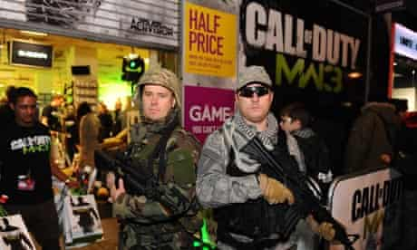 'Call of Duty: Modern Warfare 3' game launch at GAME store in London 2011