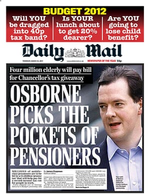 budgetfrontpages: Daily Mail