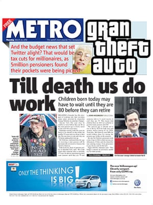 budgetfrontpages: Metro front page