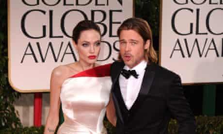 Angelina Jolie & Brad Pitt at Golden Globe awards 2012
