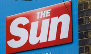 A poster of The Sun newspaper offices