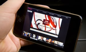 iPlayer website view on an iPhone