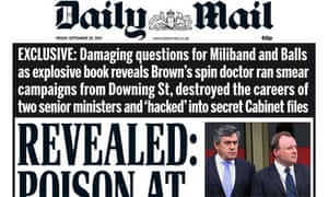Daily Mail cover 20 Sep 2013
