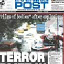 Nottingham Evening Post front page