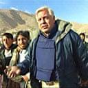 John Simpson walking into Kabul