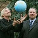Richard Branson and Al Gore